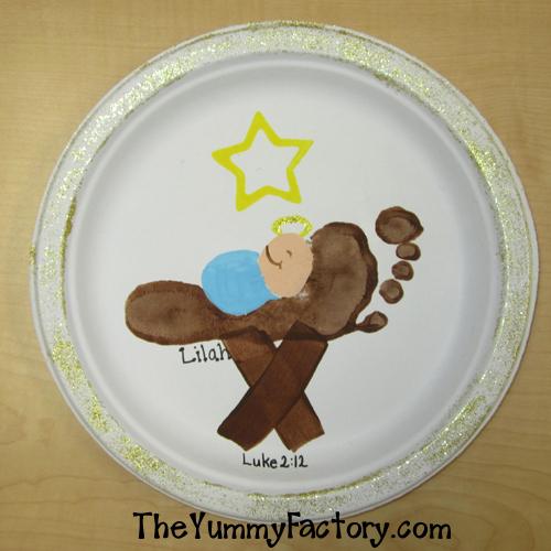 baby jesus foot manger